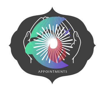 MoonFire Reiki Logo with white lettering saying Appointments.
